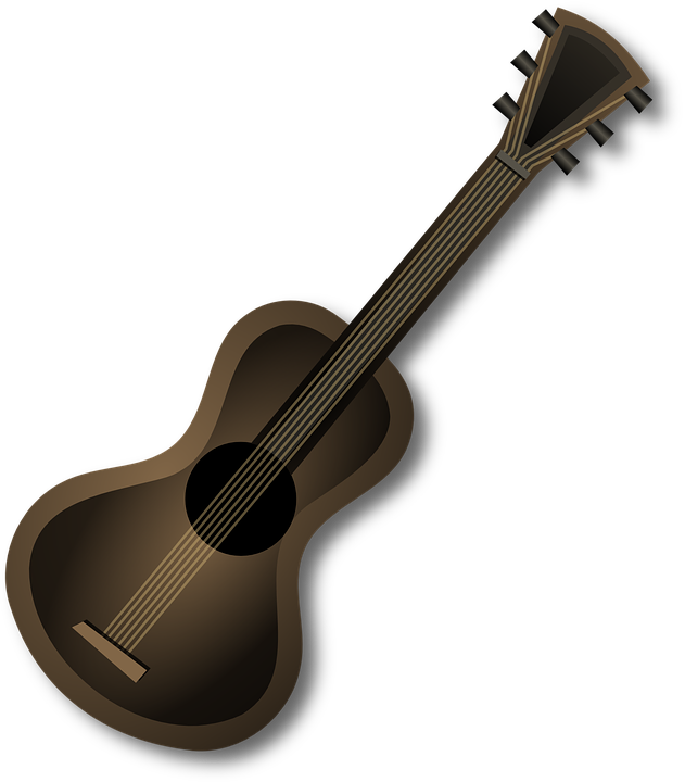 image stock Banjo clipart western guitar. Acoustic brown free on.