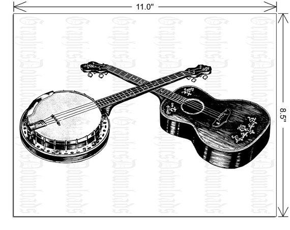 png download Banjo clipart western guitar. Webstockreview .