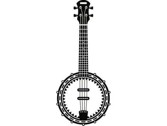 clip art Musical instrument strings rock. Banjo vector.