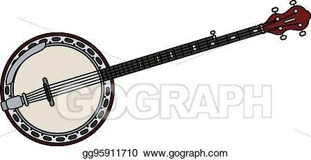 picture freeuse download Banjo vector. Clipart classic five strings.