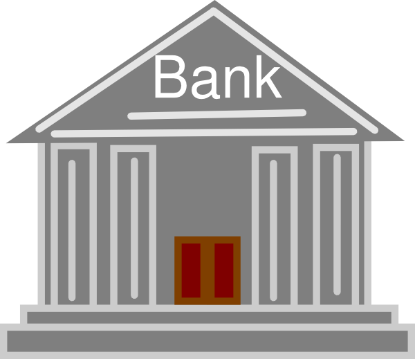 clip art royalty free library Bank Icon Clip Art at Clker