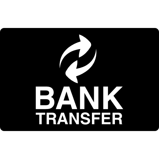 picture transparent Bank transfer logo on black