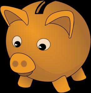 image Piggy bank clip art. Banker clipart