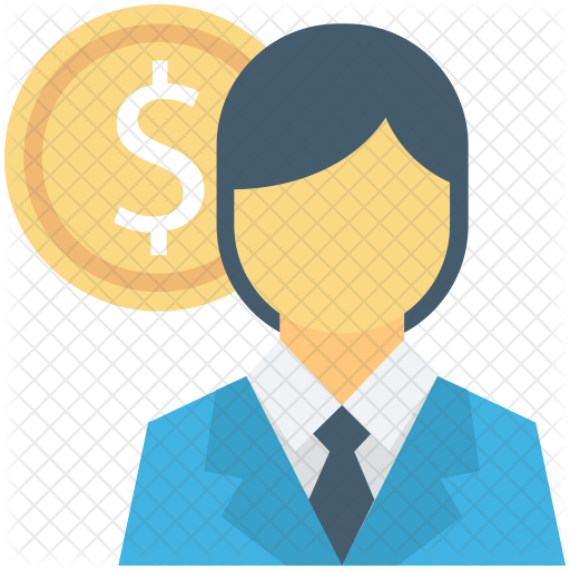picture royalty free library Banker clipart accountant. Icon business finance icons.