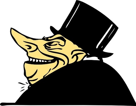image library Banker clipart stingy person. .