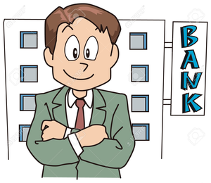banner library download Banker clipart stingy person. Free images at clker.