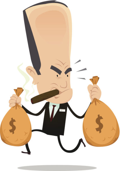 graphic Are banks evil buddhamoney. Banker clipart stingy person.