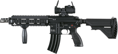 jpg black and white download Assault rifle fifty three. Vector carbine transparent