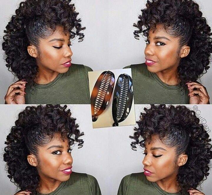 image stock Bananna clip natural hair. Banana hairstyles curly styles