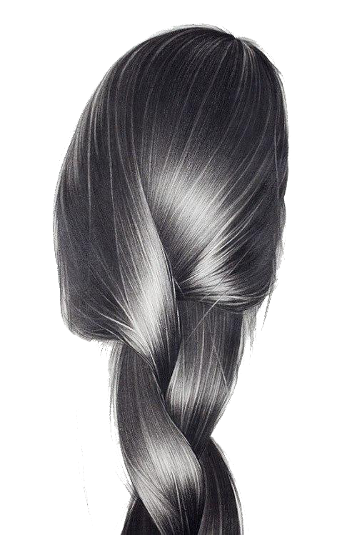 clip black and white download Recursive drawing hair. Art pencil illustration women