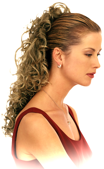 graphic freeuse library Helena collection hair pieces. Bananna clip ponytail