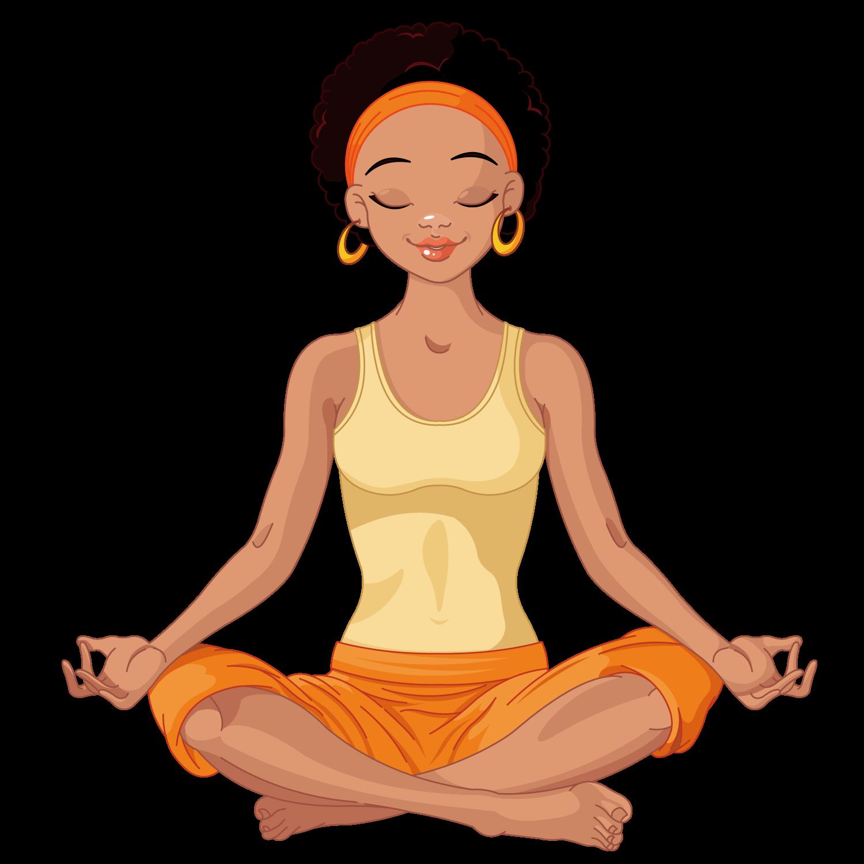 clip art library download Yoga lotus position african. Bananna clip short hair