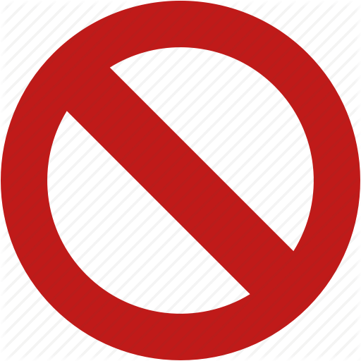 freeuse library Toolbar signs by aha. Banned transparent no entry