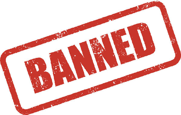image free download Rubber ink imprint icon. Banned transparent stamp