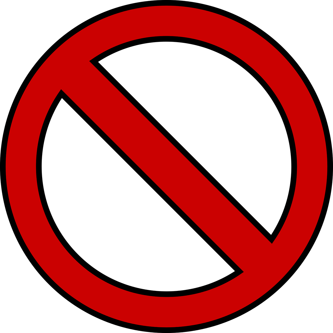 black and white stock Banned transparent symbol png.  for free download