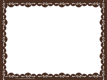 clip art royalty free library Clip art border brown. Certificate clipart certification.