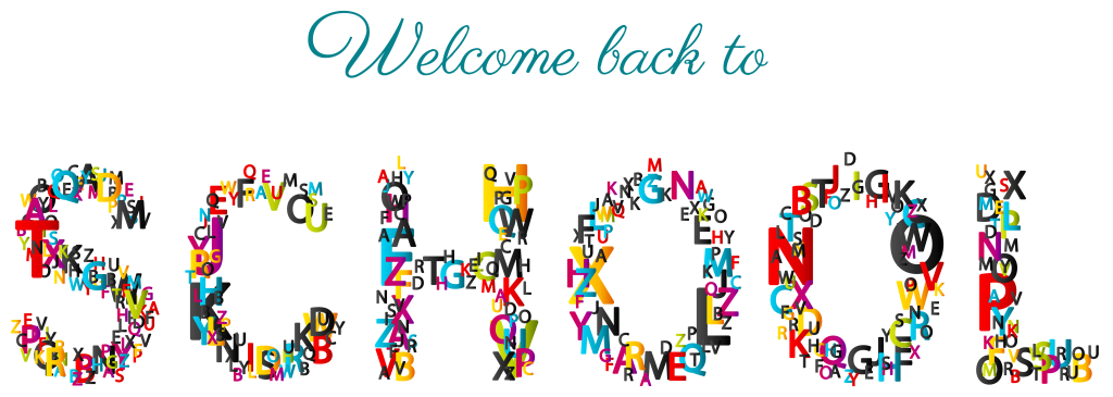 svg free stock Welcome back to school. Banner clipart college.