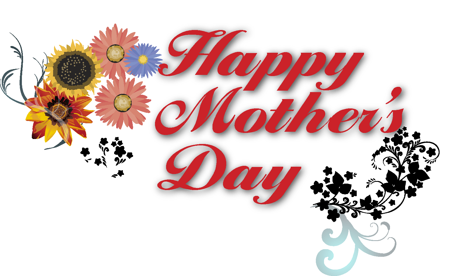 picture transparent library Happy mothers day clipart. Banner text transparent png