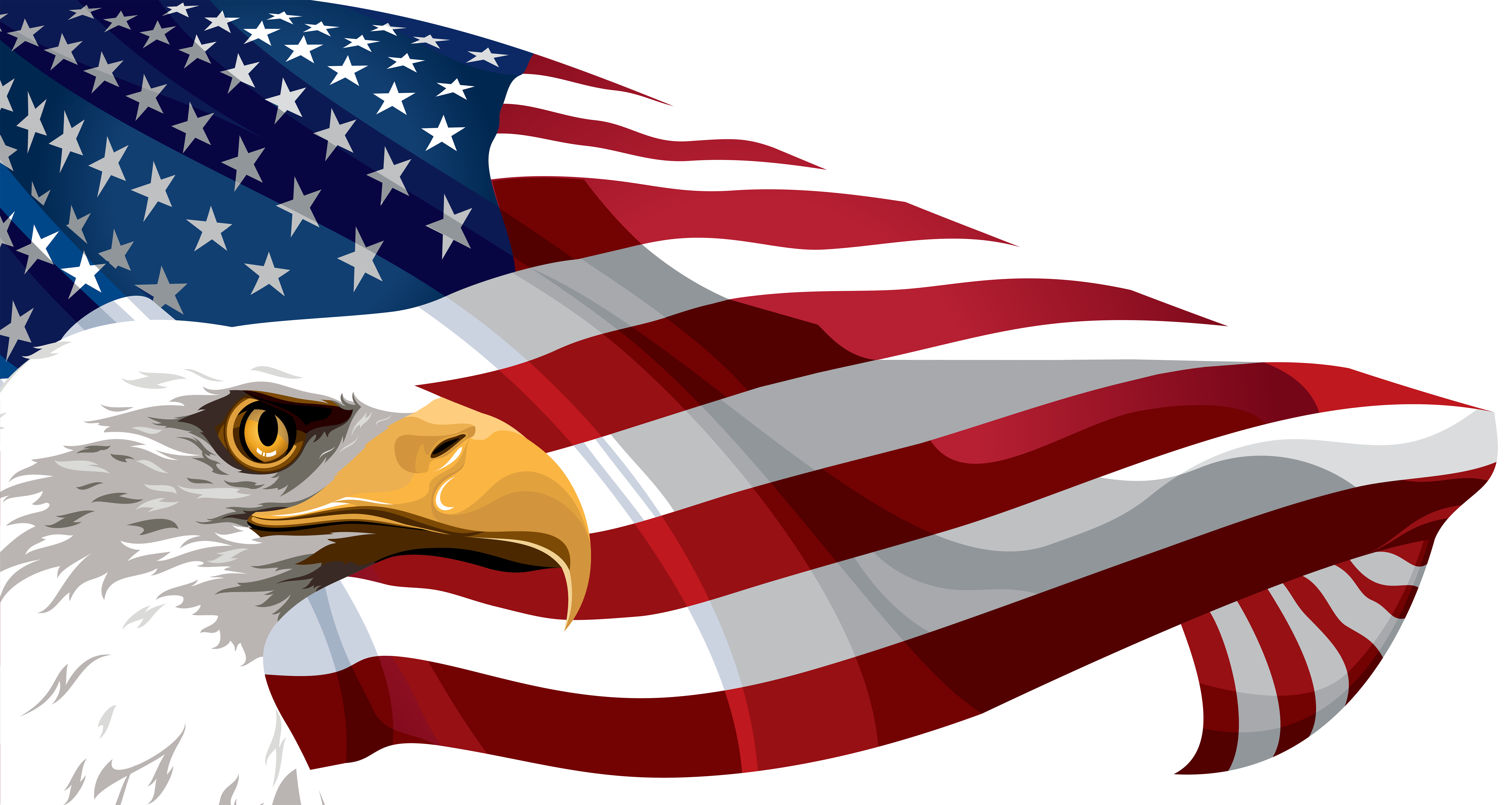 clip art free download Banners clipart eagle. American flag and transparent.