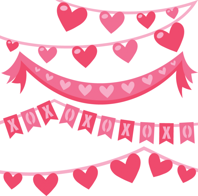 picture royalty free download Banners transparent valentine's day. Valentine svg cut files