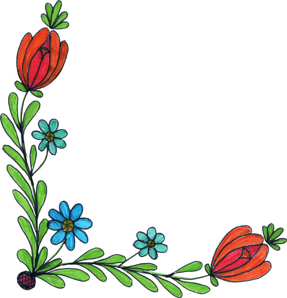 png free download Banners drawing flower.  corner png transparent