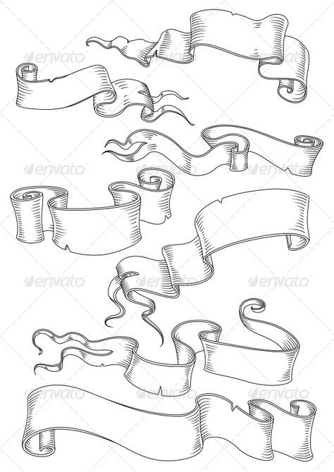 image royalty free Banners drawing graffiti. Manuscripts and parchments man
