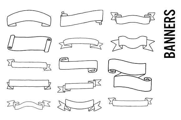 image transparent stock Banners transparent doodle. Clipart free for