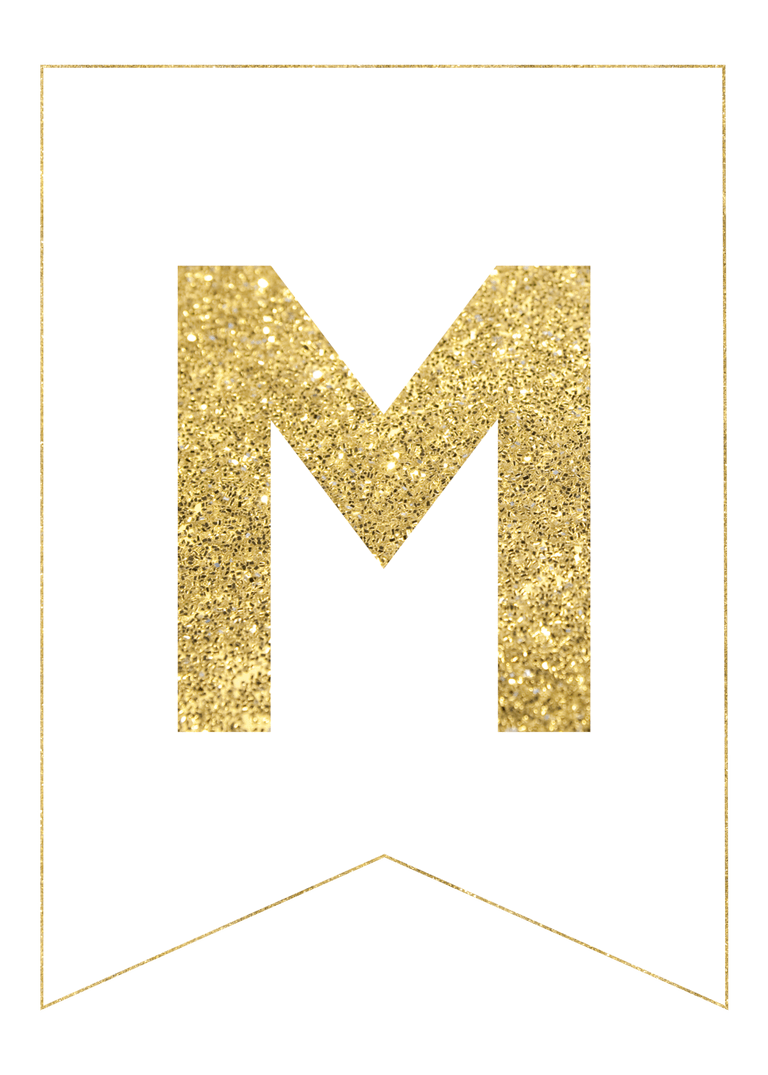 graphic royalty free Banners transparent gold glitter. Free printable banner letters