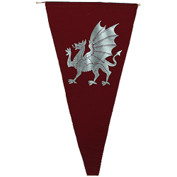 svg transparent Pennants and gothic flags. Banners transparent medieval