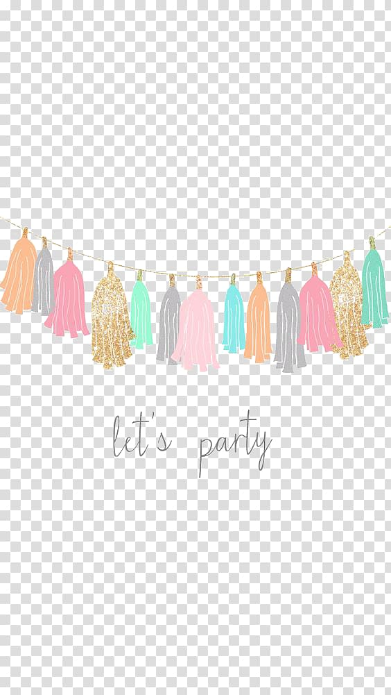 jpg free library Banners transparent tassel. Multicolored birthday party cartoon