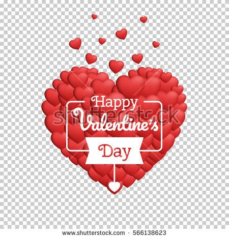banner transparent stock Modern happy valentines template. Banners transparent valentine's day