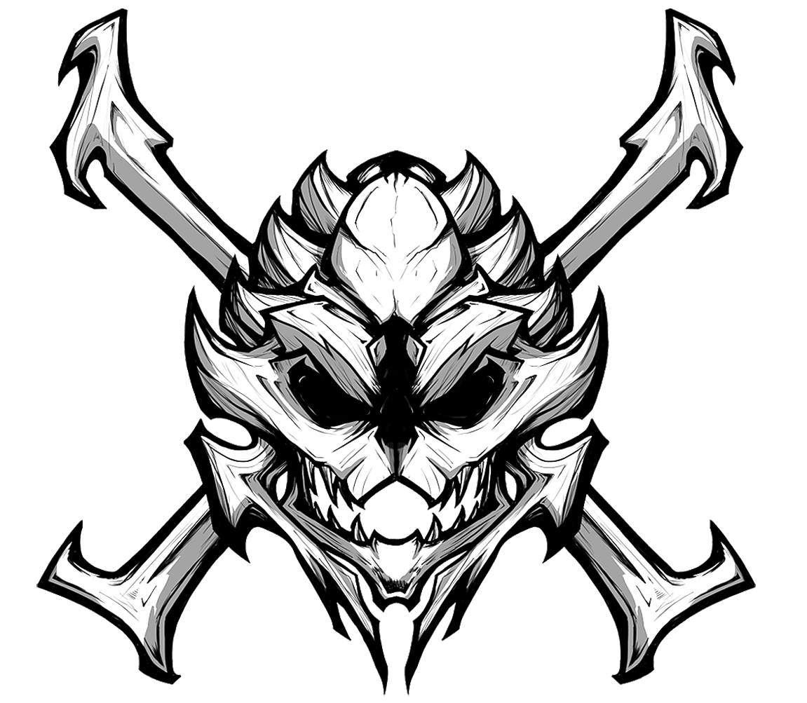 banner transparent stock Image wild guild png. Banshee drawing black and white