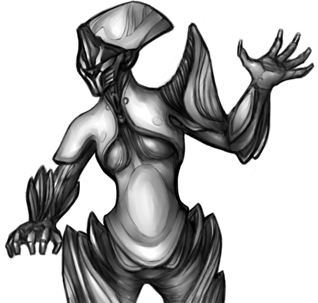 jpg transparent stock Banshee drawing black and white. Shiny fan art warframe