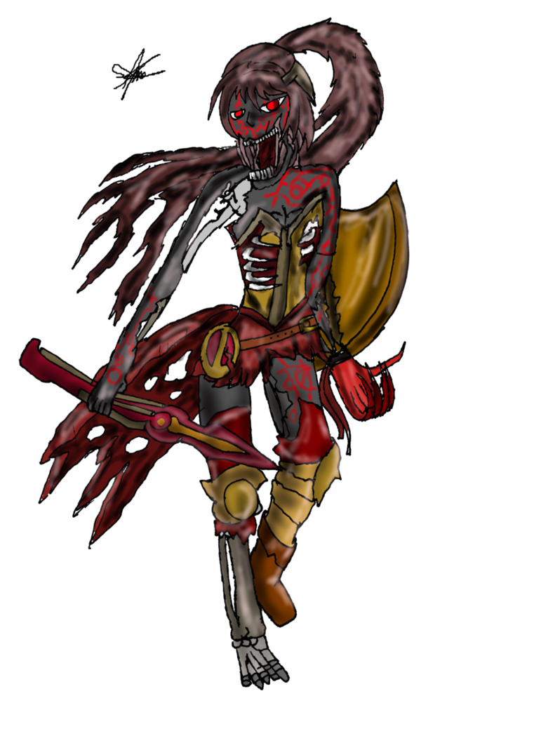 svg transparent download Rwby pyrrha grimm by. Banshee drawing creature