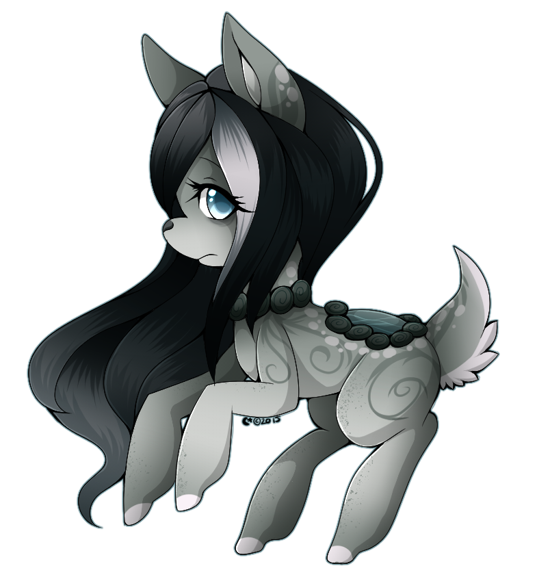 png black and white Cute little Banshee by Winter