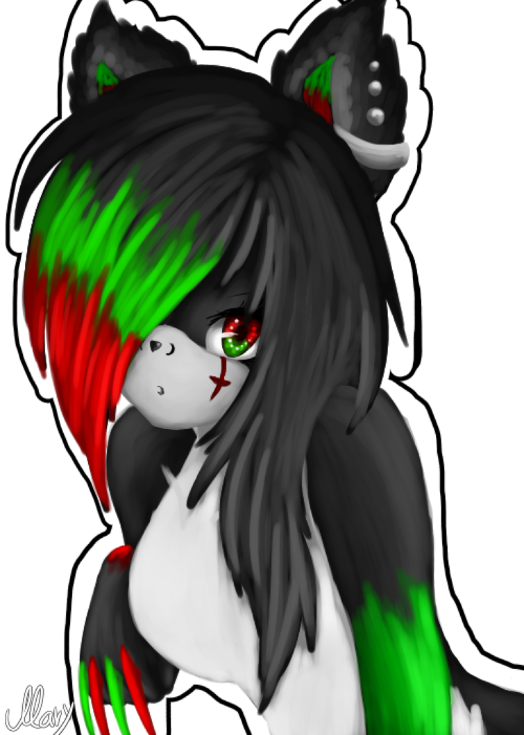 image freeuse stock New id by bloody. Banshee drawing fire
