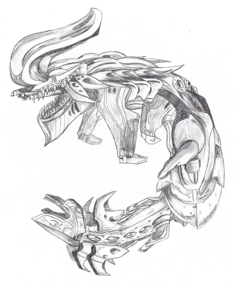 black and white library R dragon by slipher. Banshee drawing halo