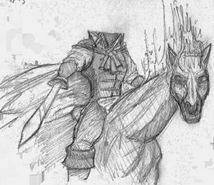 clip art transparent download Mythology akralon journal dullahan. Banshee drawing irish