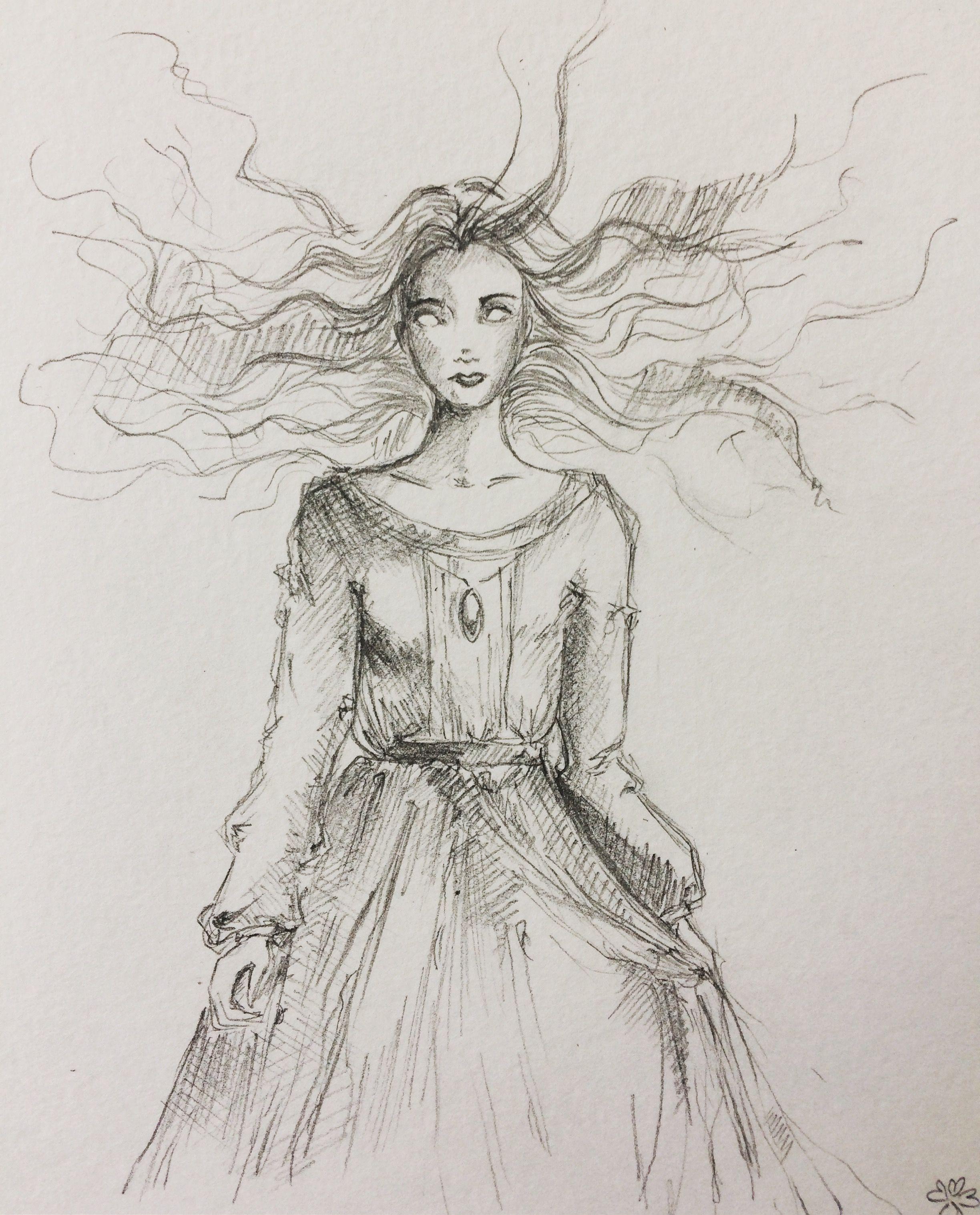 banner transparent Pencil sketch chibi art. Banshee drawing lydia
