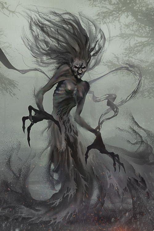 png transparent download Morbid fantasy horror concept. Banshee drawing monster