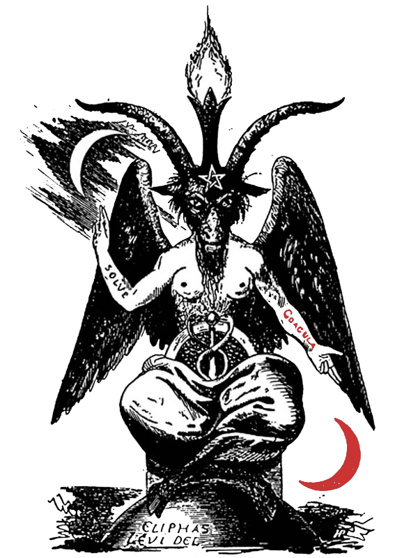 png transparent library Magic the trinity of. Baphomet drawing
