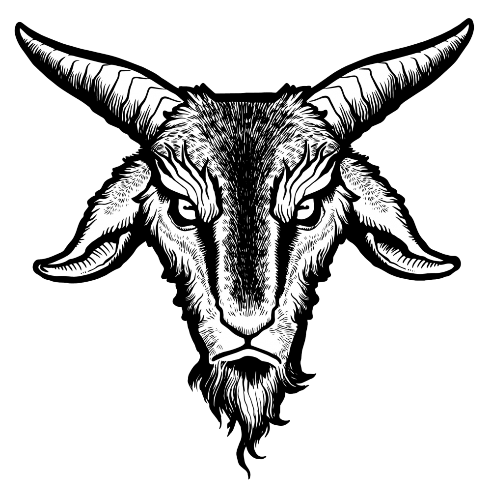 clipart free library Baphomet drawing. Goat demon transprent png