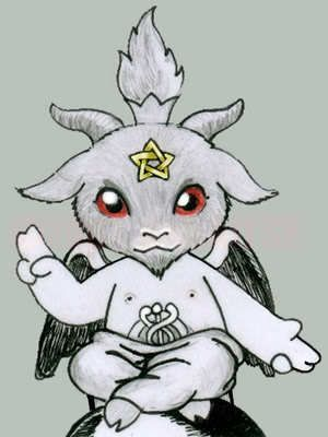 png library download Baby how pagan in. Baphomet drawing cute