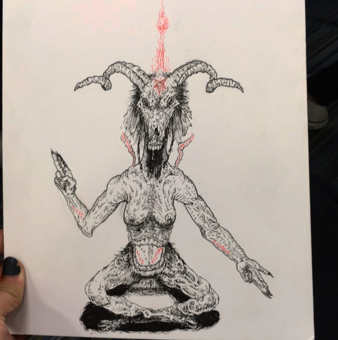 banner free Deadwipe you are the. Baphomet drawing doodle