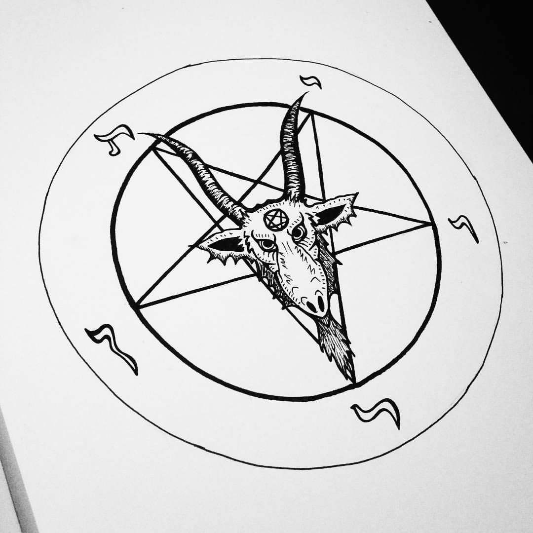 clipart transparent stock Baphomet drawing easy. Pin on art