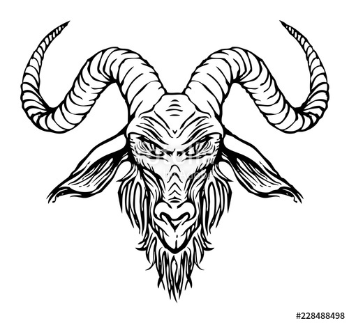 graphic freeuse download Baphomet drawing easy. Vector illustration with a