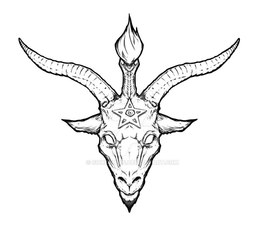 vector free library At paintingvalley com explore. Baphomet drawing easy