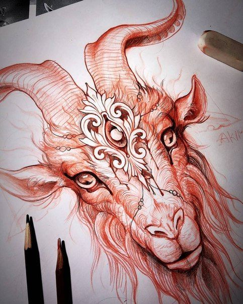 graphic freeuse library Baphomet drawing neo traditional. Filigree thing forget the