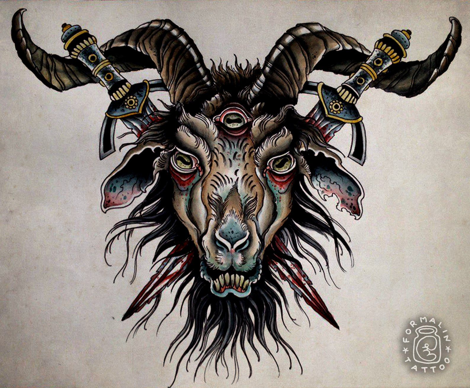 banner library download Pin by basia shuman. Baphomet drawing neo traditional
