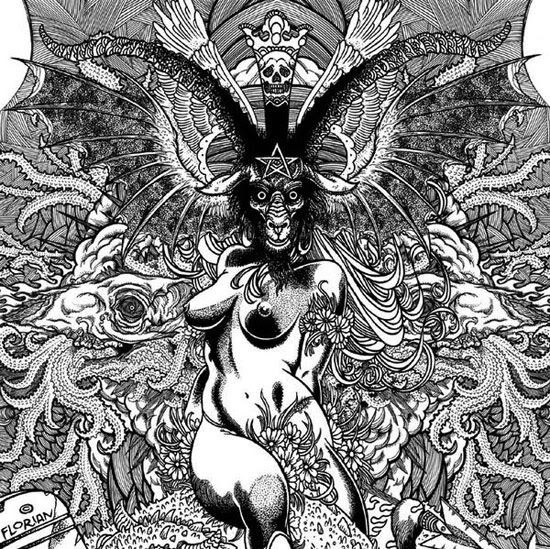 graphic royalty free stock Pin on . Baphomet drawing pen